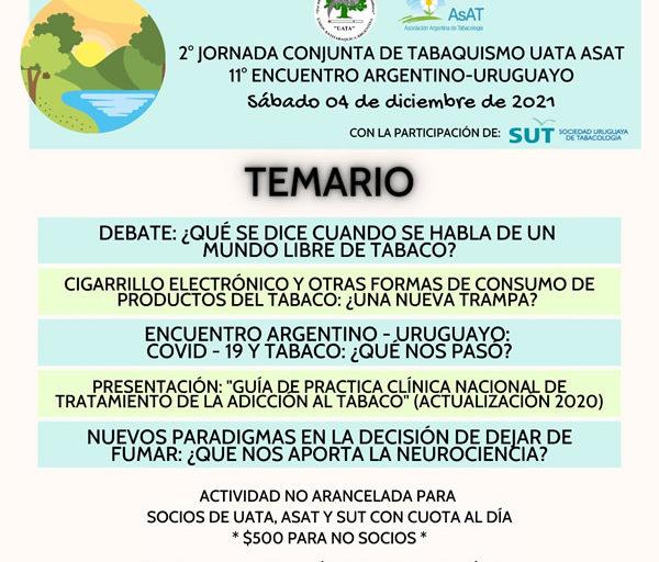 2º Jornada Conjunta de Tabaquismo UATA ASAT