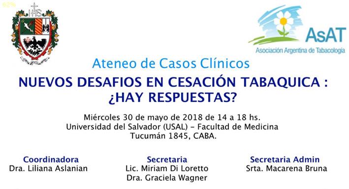 Ateneo de Casos Clínicos Nuevos Desafios en Cesación Tabaquica: Hay respuestas?