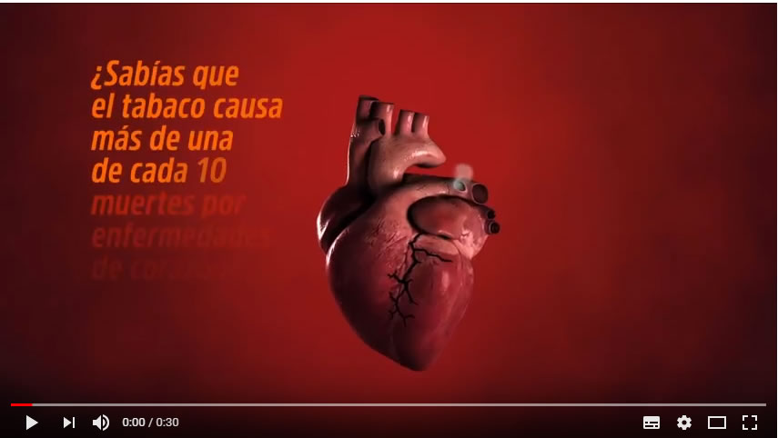 31 de Mayo : Dia Mundial del Tabaco : Lema de la OMS 2018 : Tabaco y Enfermedades Cardiovasculares