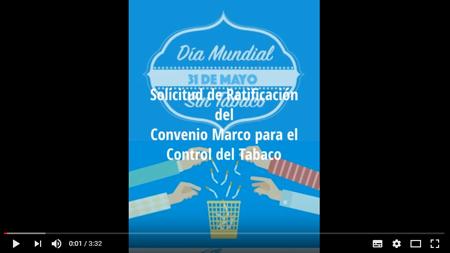 AsAT por la Ratificación del Convenio Marco para el Control de Tabaco
